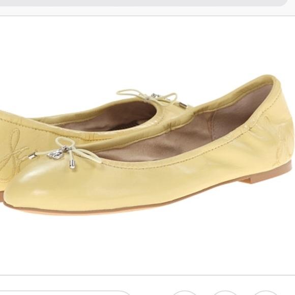 277d956a0a3c61 Sam Edelman Shoes - Sam Edelman Yellow Felicia Leather Flats Size 6